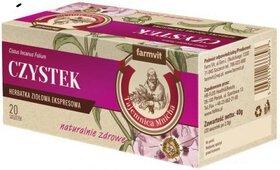 Czystek herbata 20 saszetek Farmvit Cystus Incanus