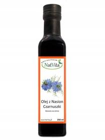 Olej z czarnuszki 250ml Natvita tłoczony na zimno