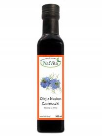 Olej z czarnuszki 500ml Natvita tłoczony na zimno