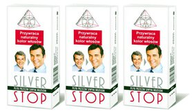 3x SilverStop 200ml Remedium Natury na siwe włosy