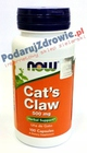 Cats Claw 500 mg 100 kapsułek Now Foods USA Uncaria Tomentosa Koci pazur (2)